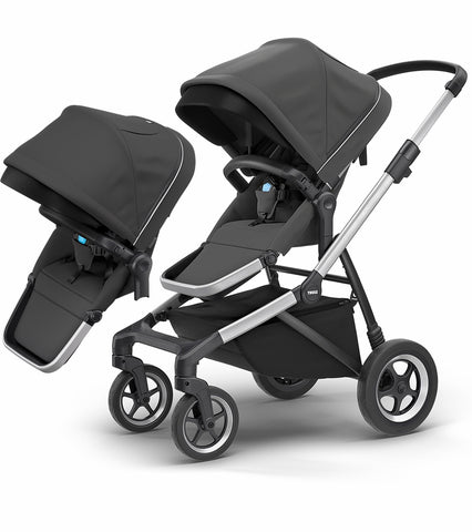 Thule Sleek Double Stroller - Shadow Grey