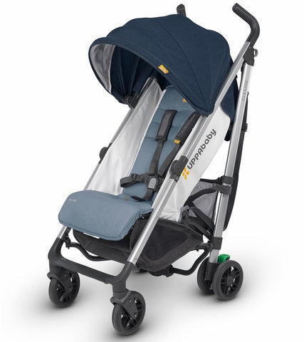 UPPAbaby 2019 G-Luxe Stroller - Aidan (Denim/Orange Stich/Silver)