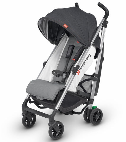 UPPAbaby 2019 G-Luxe Stroller - Jordan (Charcoal/Red Stitch/Silver)