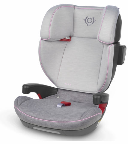 UPPAbaby 2019 ALTA Booster Car Seat - Sasha (Grey Mélange with Pink Accent)