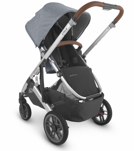 UPPAbaby 2020 Cruz V2 Stroller - Gregory (Blue Melange/Silver/Saddle Leather)