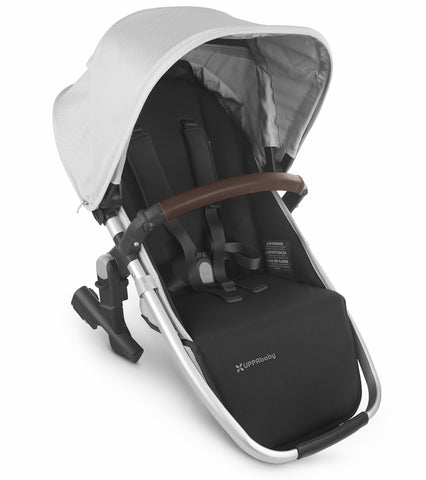 UPPAbaby 2020 Rumbleseat V2 - Bryce (White Marl/Silver/Chestnut Leather)