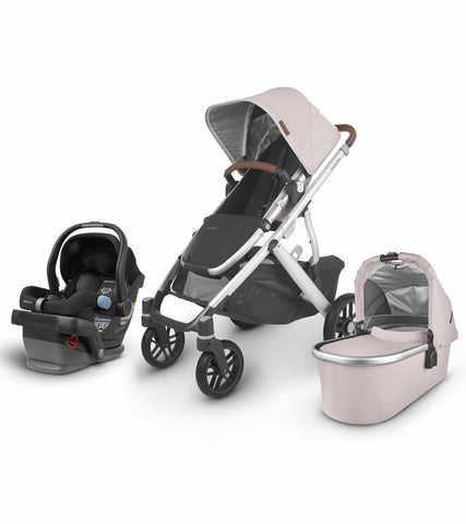 UPPAbaby 2020 Vista V2 + Mesa Travel System - Alice (Dusty Pink/Silver/Saddle Leather)