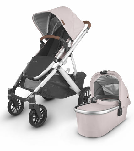 UPPAbaby 2020 Vista V2 Stroller - Alice (Dusty Pink/Silver/Saddle Leather)