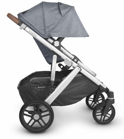 UPPAbaby 2020 Vista V2 Stroller - Gregory (Blue Melange/Silver/Saddle Leather)