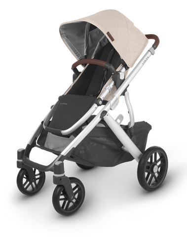 UPPAbaby 2021 Vista V2 Stroller - Declan (Oat/Silver/Brown Leather)