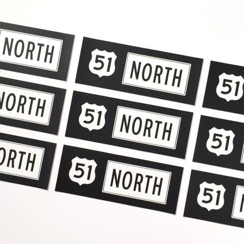 51 North Bumper Sticker