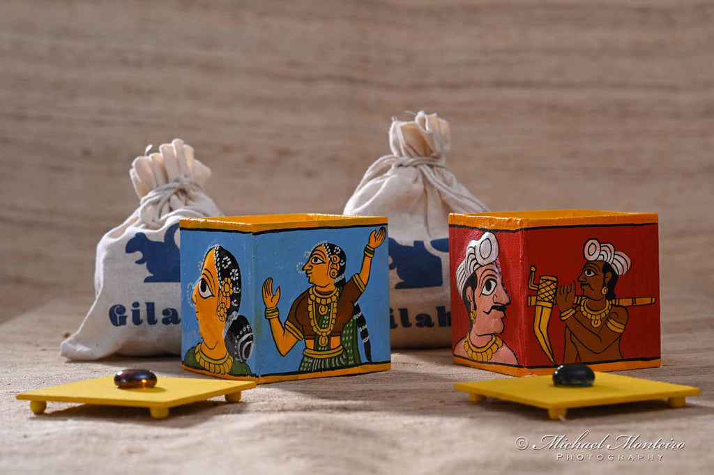 Cheriyal painted fridge magnet box
