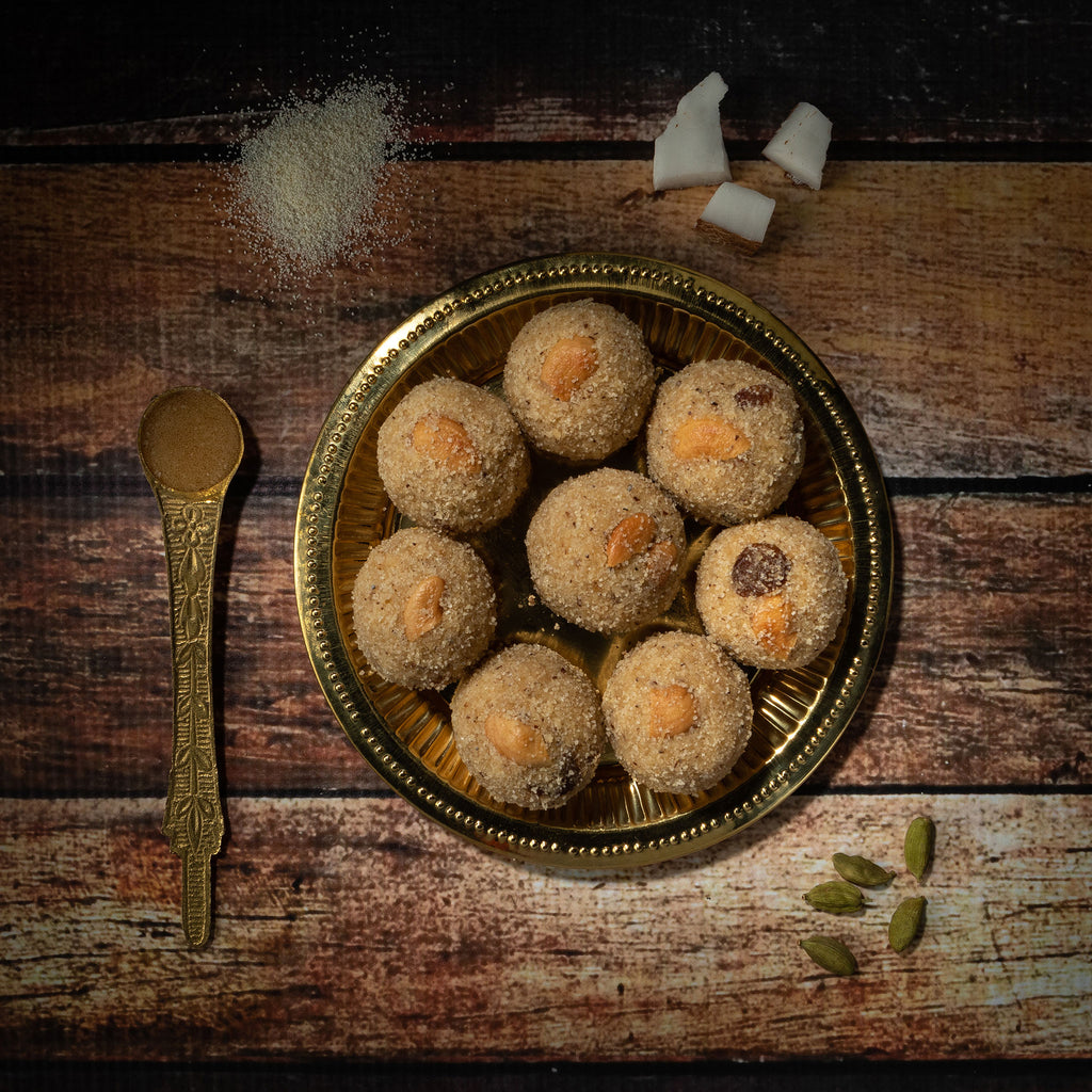 Rava, coconut laddu