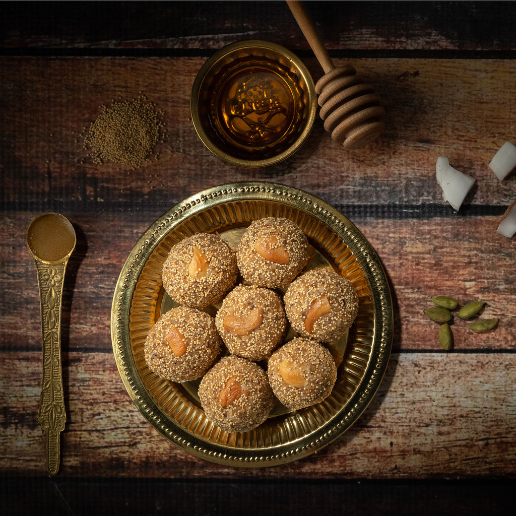 Rajgira, Coconut laddu