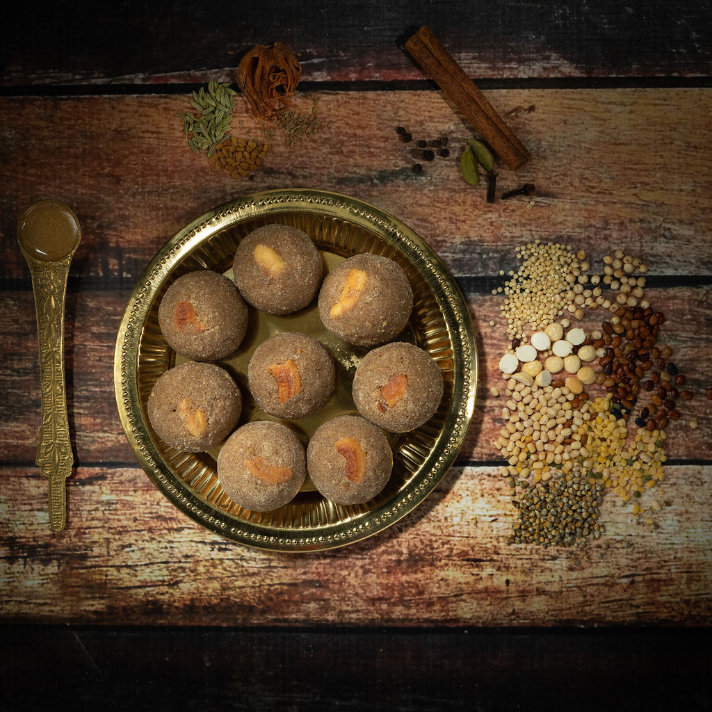 Multi grains, Millets (Bajra) laddu