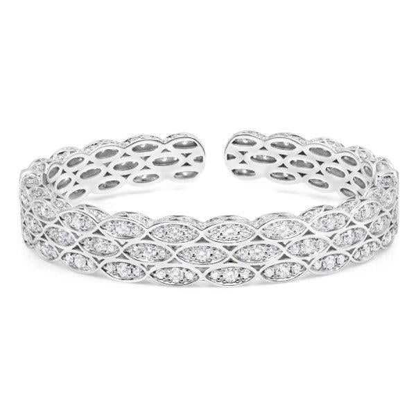 Scallop Edge Diamond Cuff