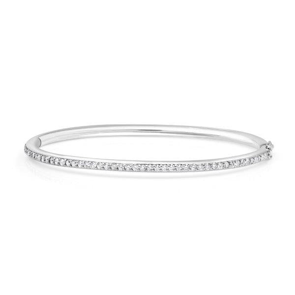 Diamond Oval Bangle