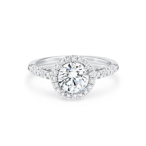 Round Brilliant Diamond Engagement Ring with Halo 2.57ctw