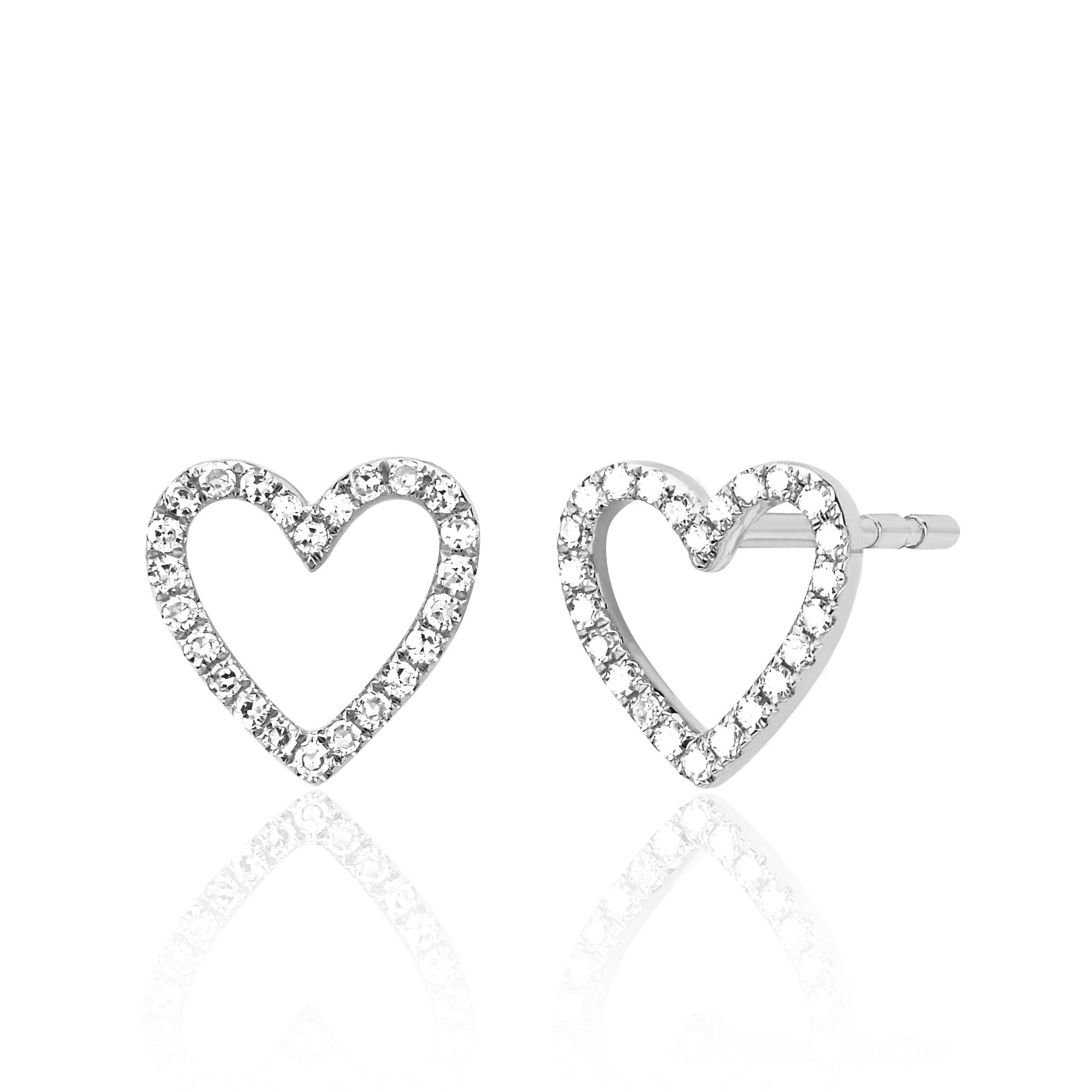 Open Heart Diamond Earring