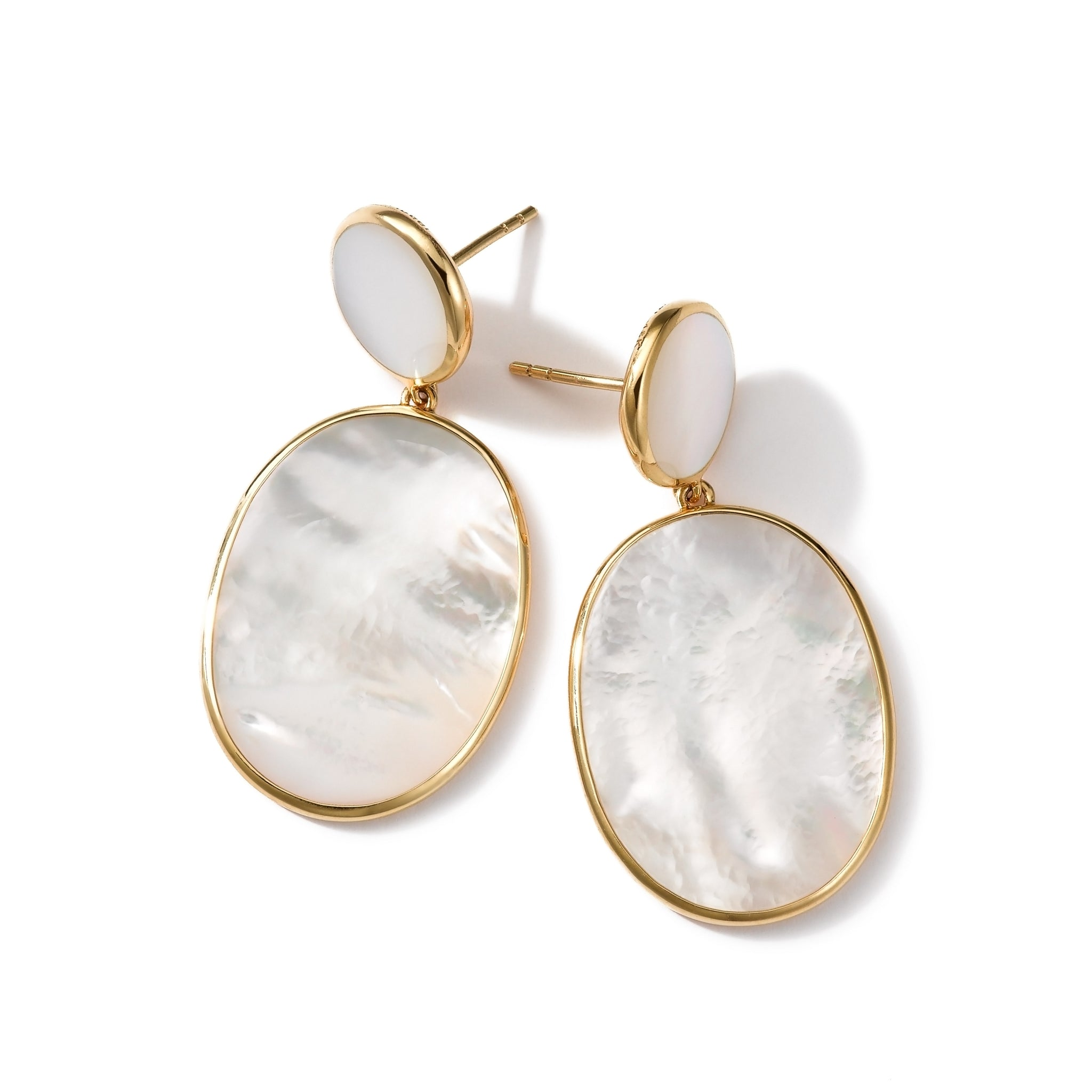Mother-of-Pearl Oval Drop Earrings