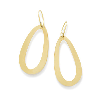Medium Oval Drop Earrings