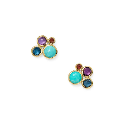 Multicolor 4-Stone Stud Earrings