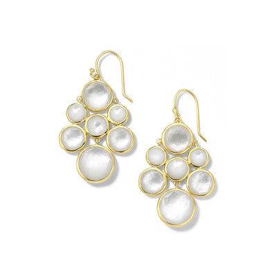 Multi-Stone Doublet Cascade Earrings