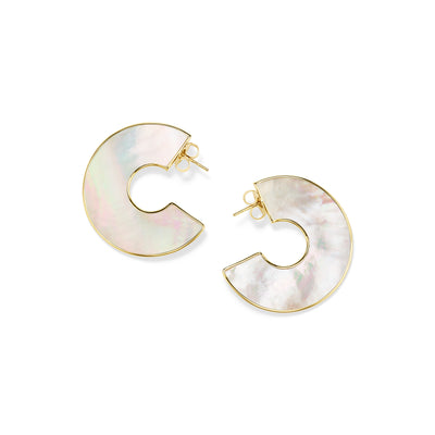 Donut Shaped Slice Earrings