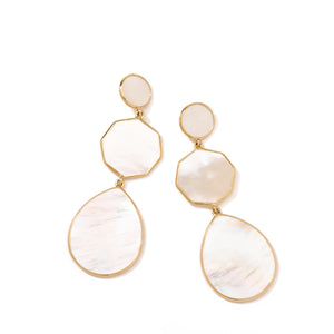 Mother-of-Pearl Crazy 8's Earrings