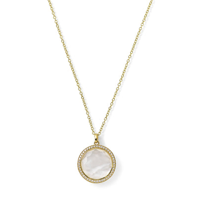 Mother-of-Pearl Doublet and Diamond Pendant