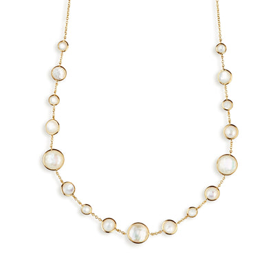 Mother-of-Pearl Station Necklace