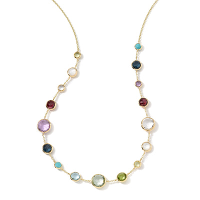 Multi Stone Station Necklace