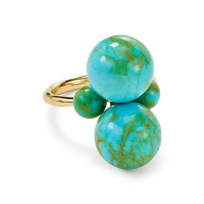 Turquoise 4-Stone Matrix Ring