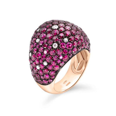 Pave Ruby and Diamond Ring