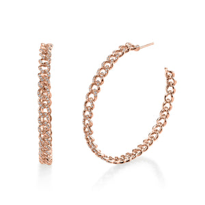 Diamond Link Hoop Earring