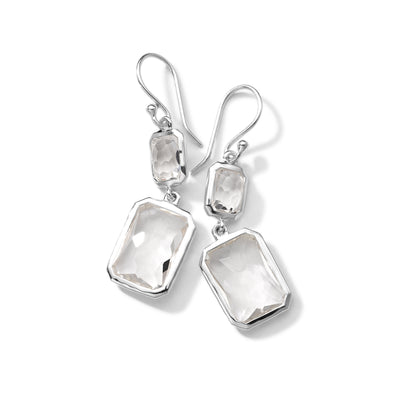 Quartz Snowman Drop Earrings