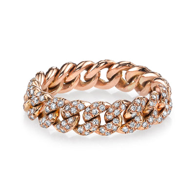 Diamond Link Chain Ring