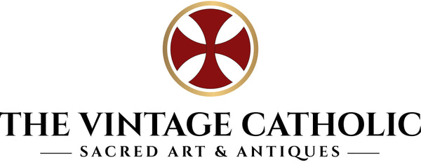 Visit us to find a splendid range of Catholic art and antiques; unique items that for centuries have been identified with the Faith and the faithful: statues, fonts, crucifixes, holy cards, rosaries; a myriad of objects that once informed and inspired the world of Catholic culture.