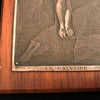 Antique Metal Engraving of the Crucifixion - Signed by B. Wicker