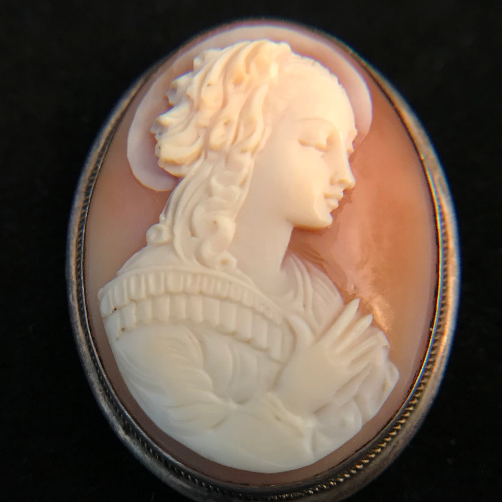 Antique Blessed Virgin Mary Cameo