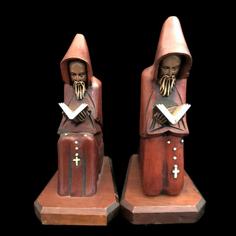 Praying Monks Statue Set