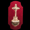 Crucifix Holy water Font with Angel