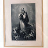 Antique Engraving of The Madonna