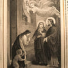 "Antique Holy Card - ""Eucharistic Visit of the Savior"""
