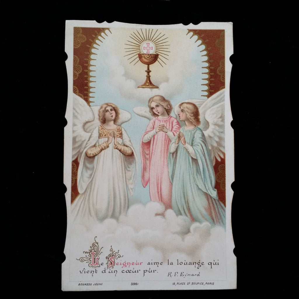 First Communion Holy Card, French, 1919 - The Vintage Catholic