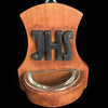 Antique Christogram Holy Water Font, 1800's
