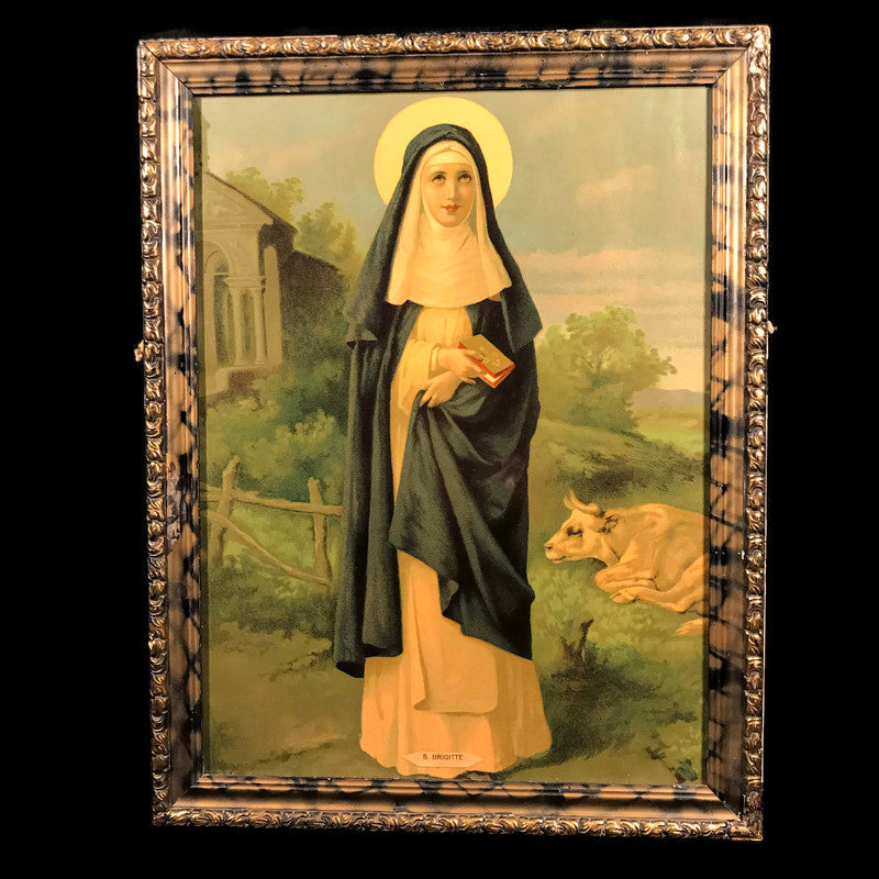 Saint Brigid of Ireland Lithograph