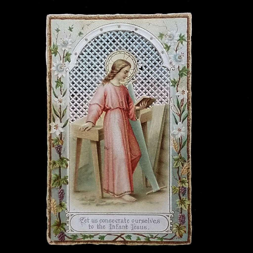 Antique Holy Card: Consecration to Jesus - The Vintage Catholic