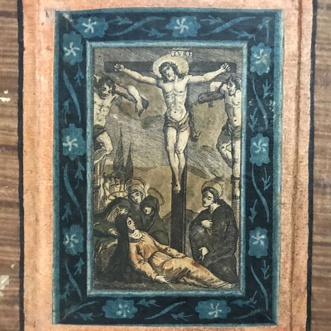 Antique Italian Stations of the Cross Set, Hand Colored Engravings, 1700s - The Vintage Catholic