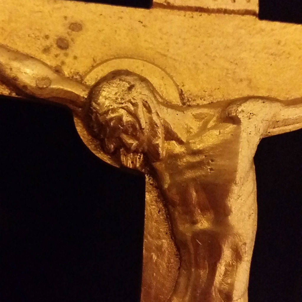 Vintage Brass Standing Crucifix - The Vintage Catholic