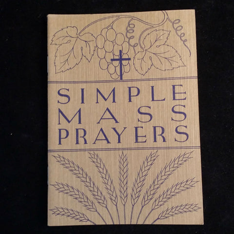 "1938 ""Simple Mass Prayers"" for Children, 4 Copies - The Vintage Catholic"