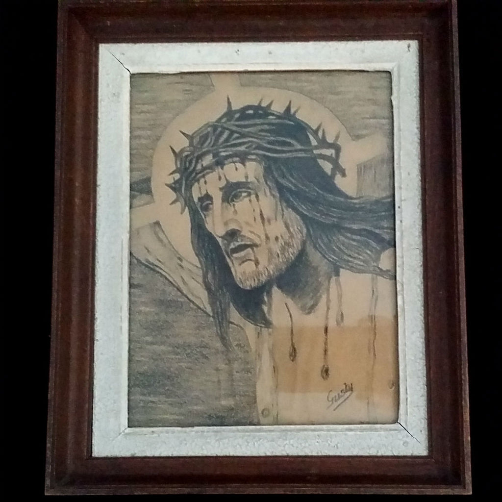 Portrait of Christ Signed by Gusty - The Vintage Catholic