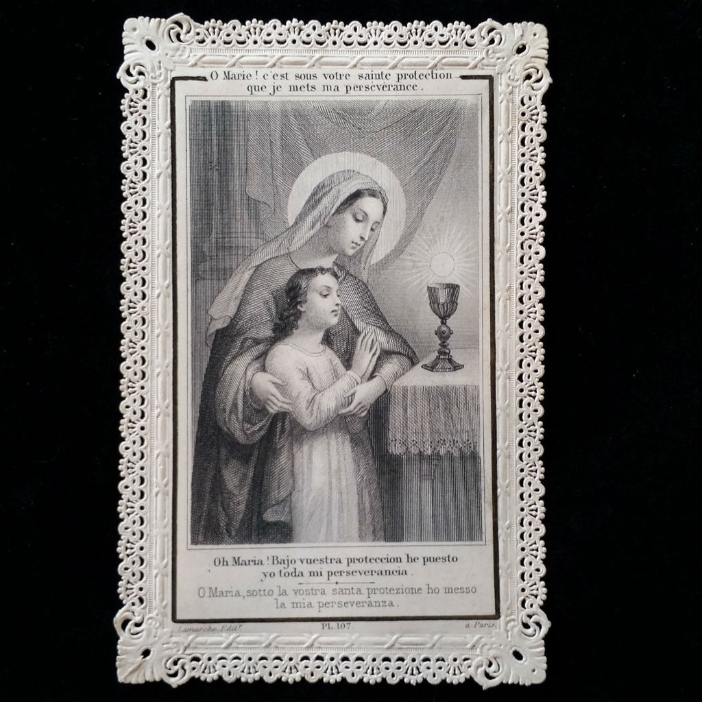 First Communion Prayer Card: Counsels of Mary - The Vintage Catholic