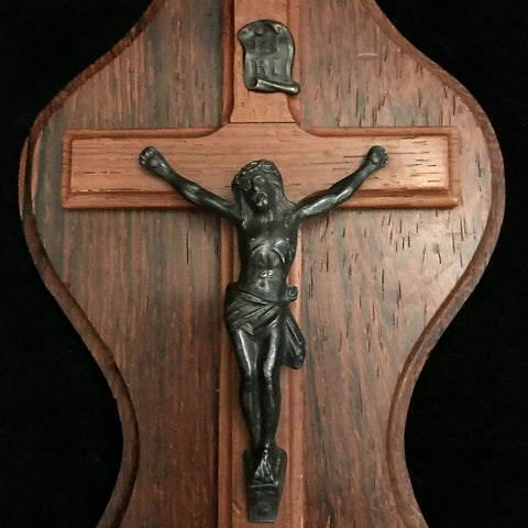 Beautiful Crucifix Holy Water Font - The Vintage Catholic